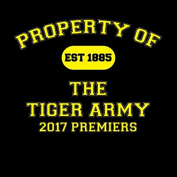 Tiger Army - 2017 Premiers by BDawg