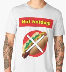 Not Hot Dog Silicon Valley Shirt Men's Premium T-Shirt