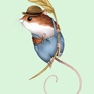 Country Mouse on a Blade of Wheat by SprawlingPuppy