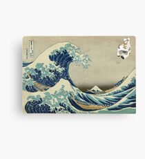The Great Wave Off Katara Canvas Print