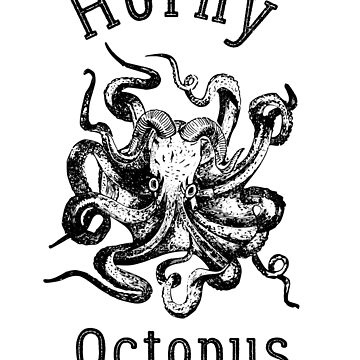 Horny Octopus T-Shirt - Funny Fictive Beer Brand Shirt | Light by FunnyAddicting