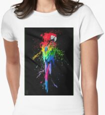 Splashed Parrot Women's Fitted T-Shirt