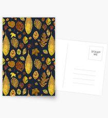 Nunnery leaves - blue Postcards