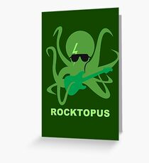 Rocktopus [GREEN] Greeting Card