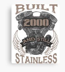 Built and even stainless biker born 2000  Canvas Print