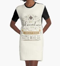 Beauty And The Beast Quote Graphic T-Shirt Dress