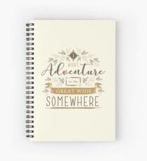 Beauty And The Beast Quote Spiral Notebook