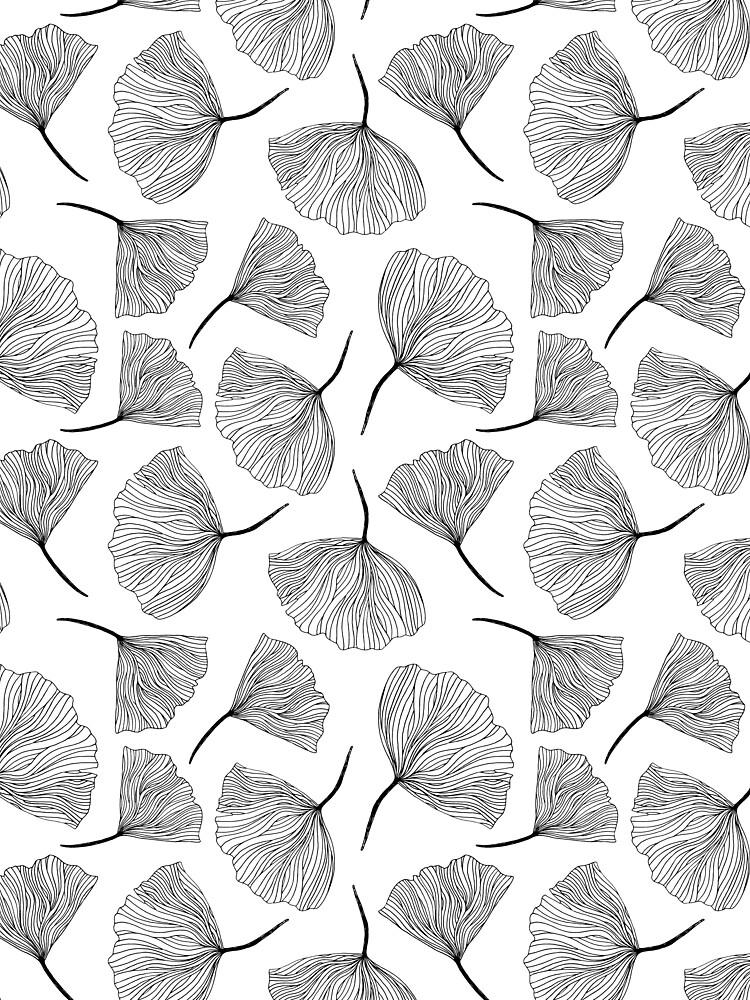 Fantasy flowers black and white. by nastybo