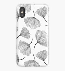 Fantasy flowers black and white. iPhone Case