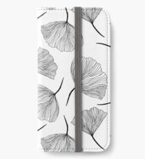 Fantasy flowers black and white. iPhone Wallet/Case/Skin
