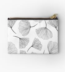 Fantasy flowers black and white. Studio Pouch