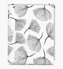 Fantasy flowers black and white. iPad Case/Skin
