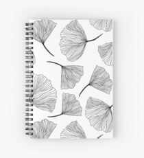 Fantasy flowers black and white. Spiral Notebook