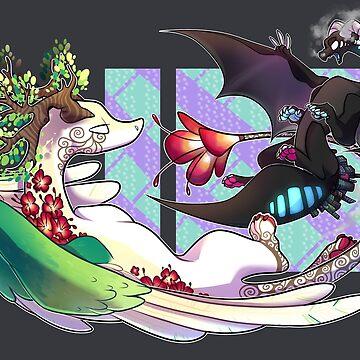 City Dragon VS Nature Dragon by Taiinty