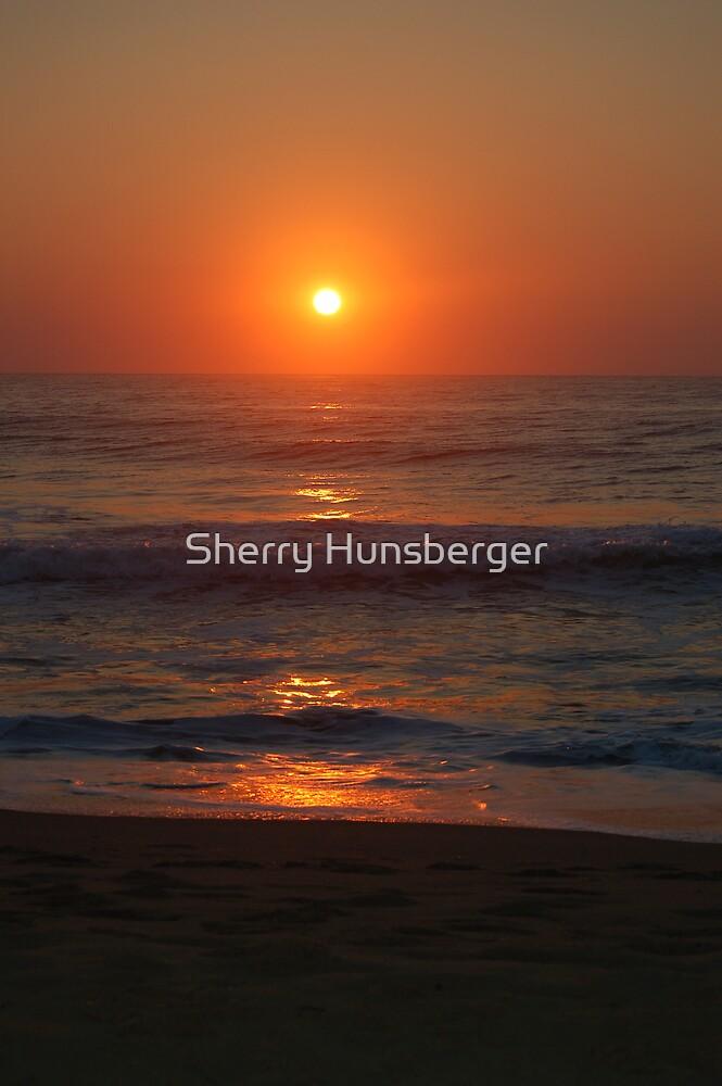 Virginia beach sunrise by Sherry Hunsberger