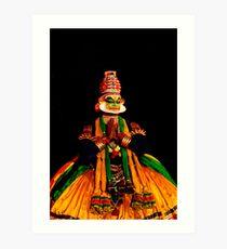Kathakali-2 Art Print