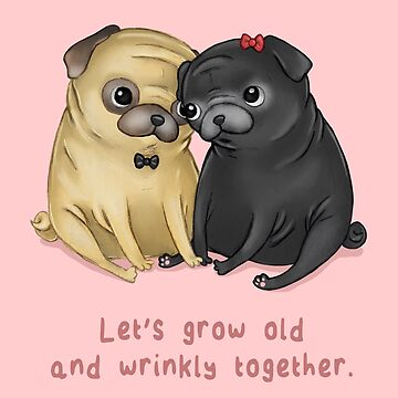 Old and Wrinkly Pugs by SprawlingPuppy