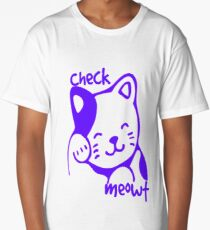 Check MEOWT cute retro cat  Long T-Shirt