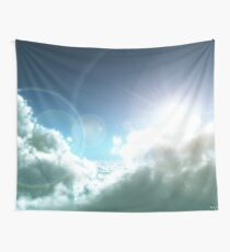 Cloudy Sun Wall Tapestry