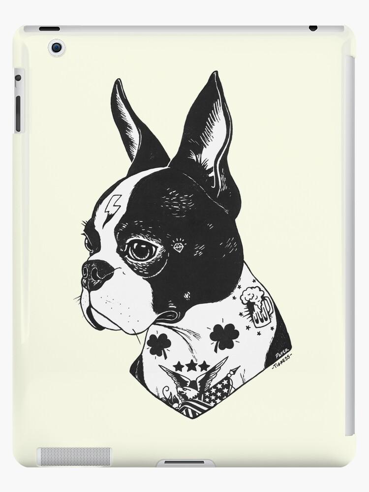 «Tatuado Boston Terrier» de PaperTigressArt