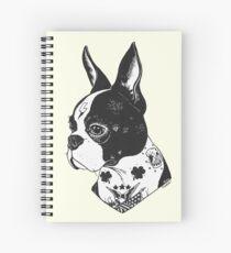 Tattooed Boston Terrier  Spiral Notebook