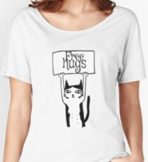 Check MEOWT cute retro cat Women's Relaxed Fit T-Shirt
