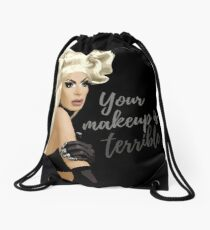 """Your makeup is terrible"" Alaska Thvnderfvck 5000 quote Drawstring Bag"