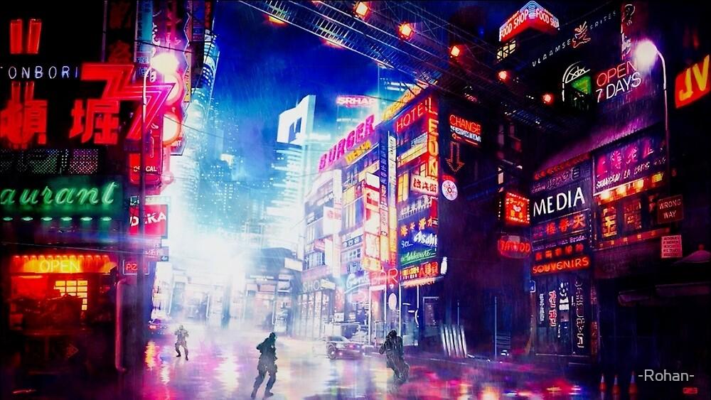 Tokyo Skyline by -Rohan-