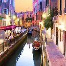 Romantic Venice Italy Canal by daphsam