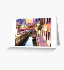 Romantic Venice Italy Canal Greeting Card