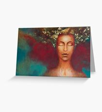Priestess of Beauty & Light Greeting Card