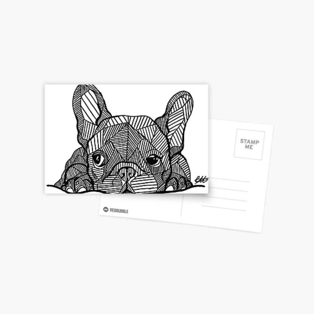 Französischer Bulldoggen-Welpe Postkarte