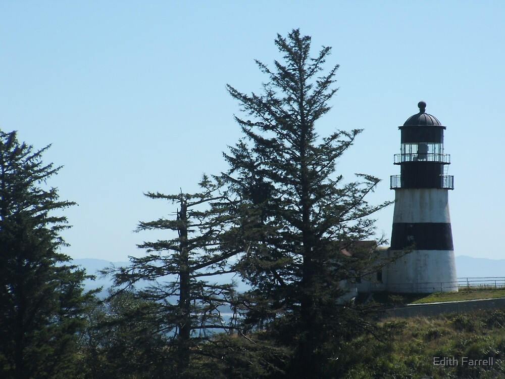 Cape Disappointment Lighthouse by Edith Farrell