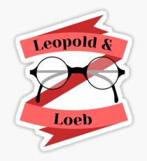 Leopold and Loeb glasses (ver. 2) Sticker