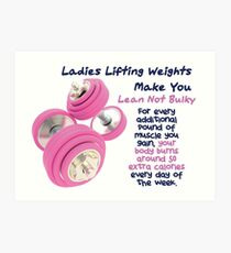 Ladies Lifting Weights - Infographic Art Print
