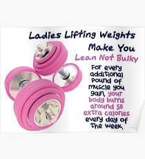 Ladies Lifting Weights - Infographic Poster