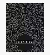 Inception Movie Poster Photographic Print