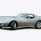 1971 Corvette C3 Stingray Coupe 2 by DaveKoontz