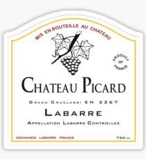 Chateau Picard! [Finden Sie eine Weinflaschen-Edition mit Etikett] Sticker