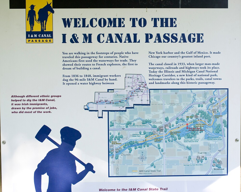 I & M Canal Welcome Sign by Michael Wolf