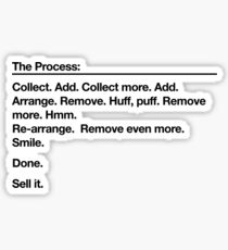 The (Design) Process Sticker