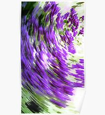 Abstract image of spinning colors Green Violet Poster