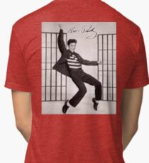 ELVIS, Presley, Jailhouse Rock, King of Rock and Roll, Dance Tri-blend T-Shirt