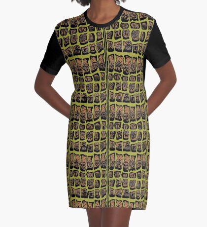 Avocado Graphic T-Shirt Dress