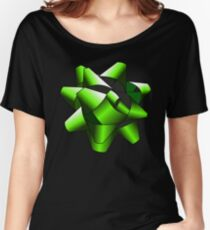 Green Present Bow Women's Relaxed Fit T-Shirt