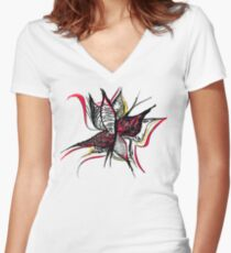 Butterfly Romance 1.0 Women's Fitted V-Neck T-Shirt