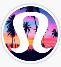 Lululemon Sunset Sticker