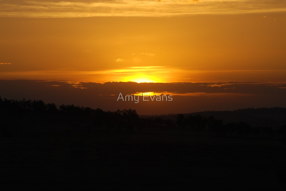 Sunset over Wagga by Amy Evans