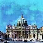 St. Peter's Square, The Vatican II by Al Bourassa
