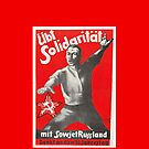 Solidarity with Soviet Russia, 1930s German Communist Propaganda poster by Remo Kurka